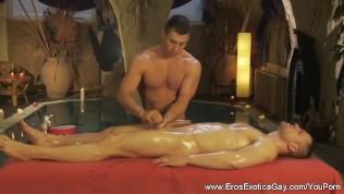 Erotic Rubdown And Handjob Time